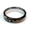 Police Silver and Black Tungsten Brotherhood Band - To Protect And To Serve for Law Enforcement