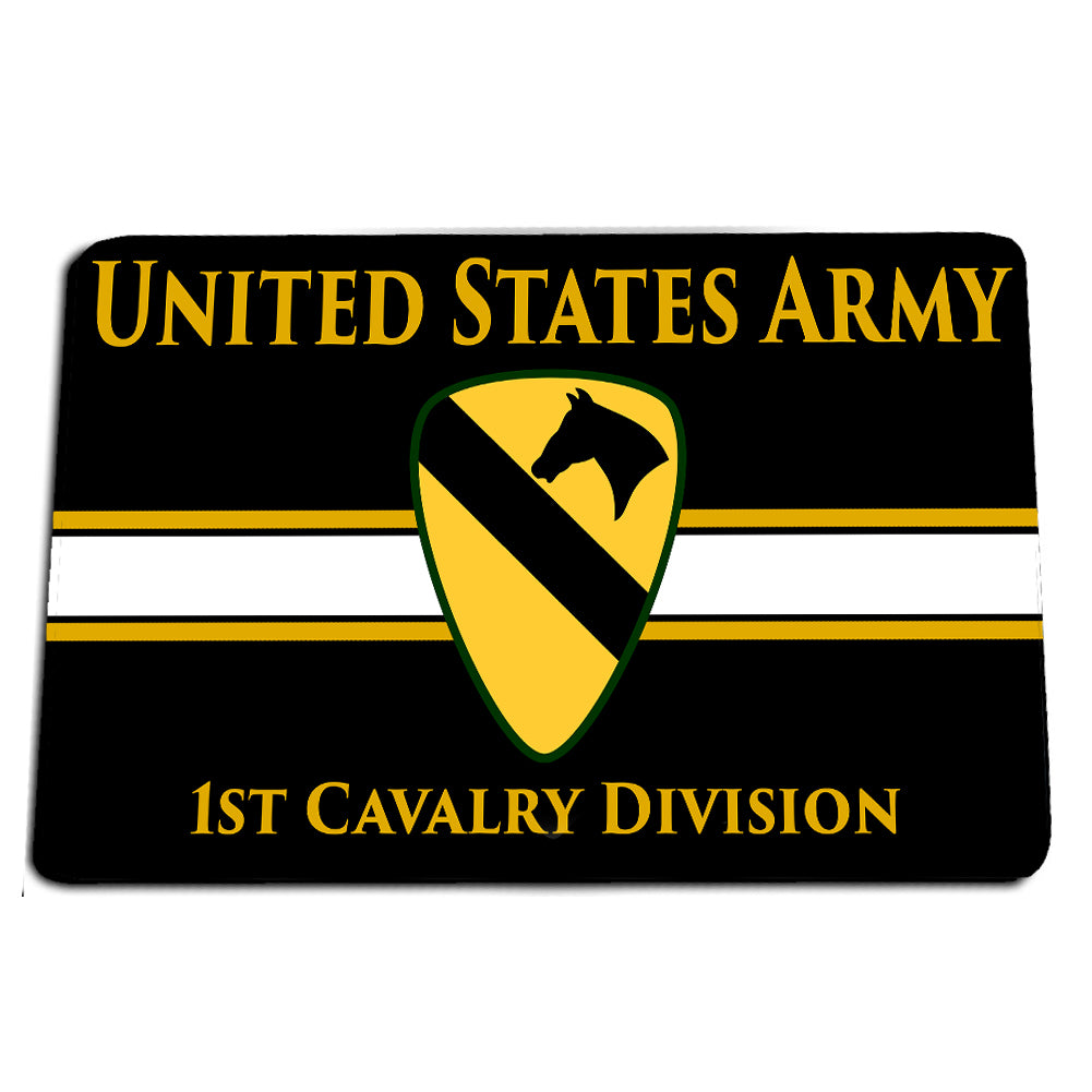 United States Army First Cavalry Division The First Team Door Mat Rug