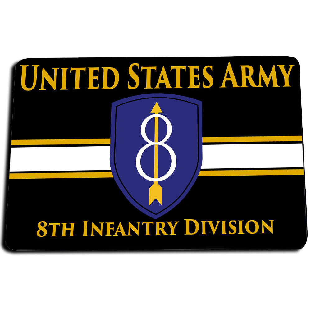 United States Army 8th Infantry Division These Are My Credentials Door Mat Rug