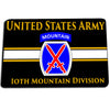 United States Army 10th Mountain Division Climb To Glory Door Mat Rug