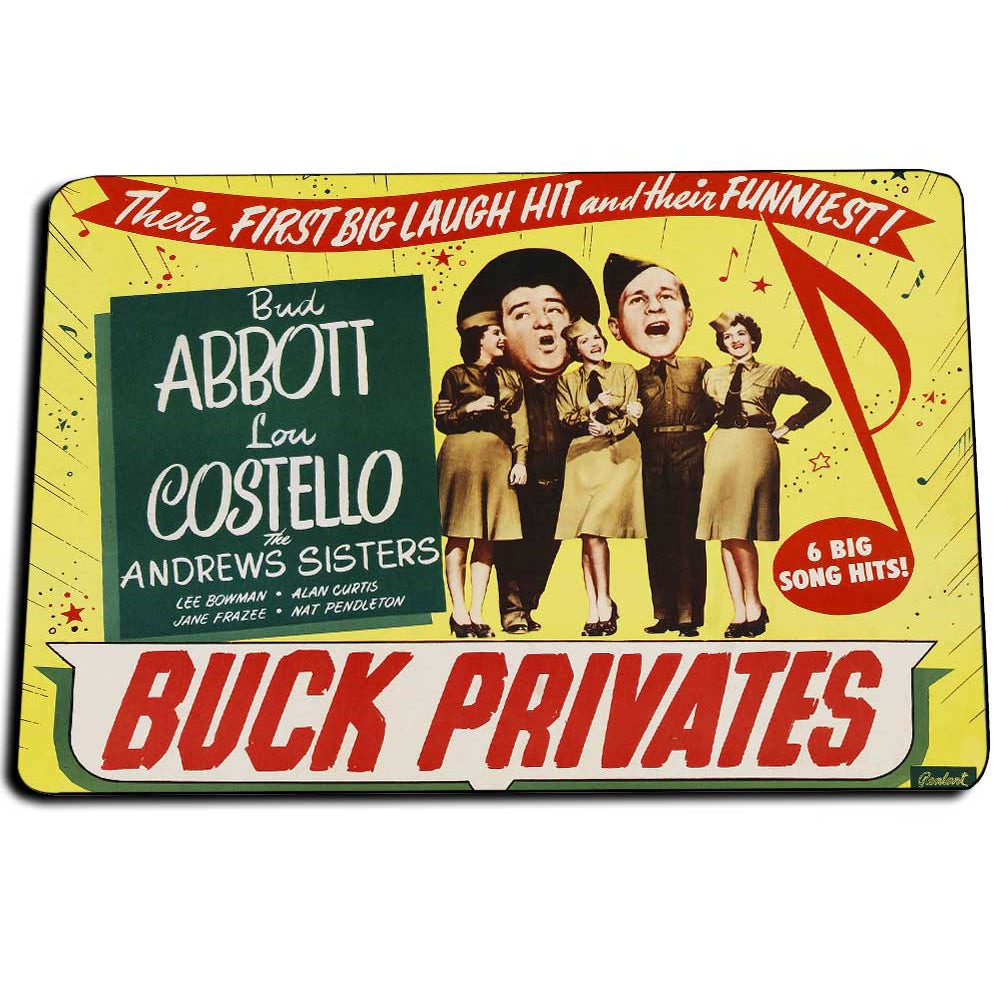 Abbott and Costello Buck Privates In The United States Army Door Mat Rug