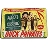 Abbott and Costello Buck Privates In The US Army Door Mat Rug