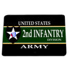 United States Army Second Army Division Second To None Door Mat Rug