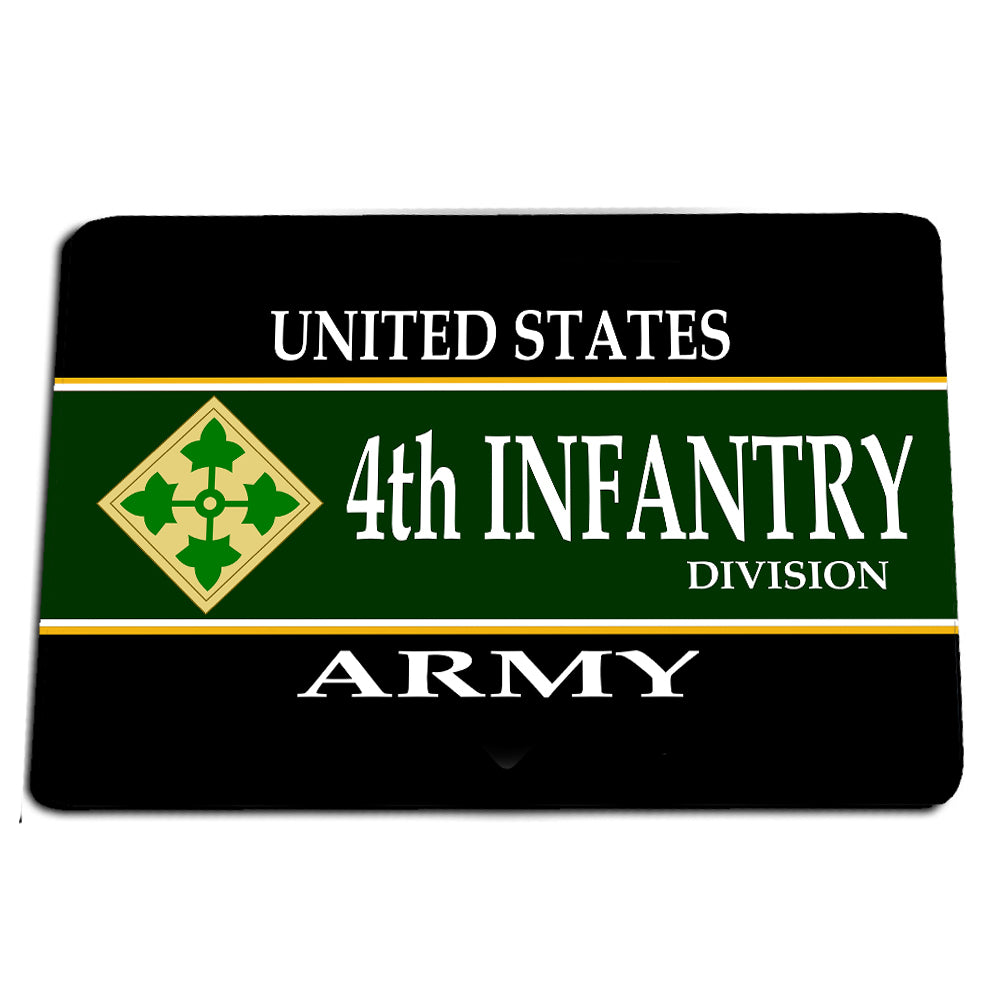 United States Army Fourth Infantry Division Steadfast and Loyal Door Mat Rug