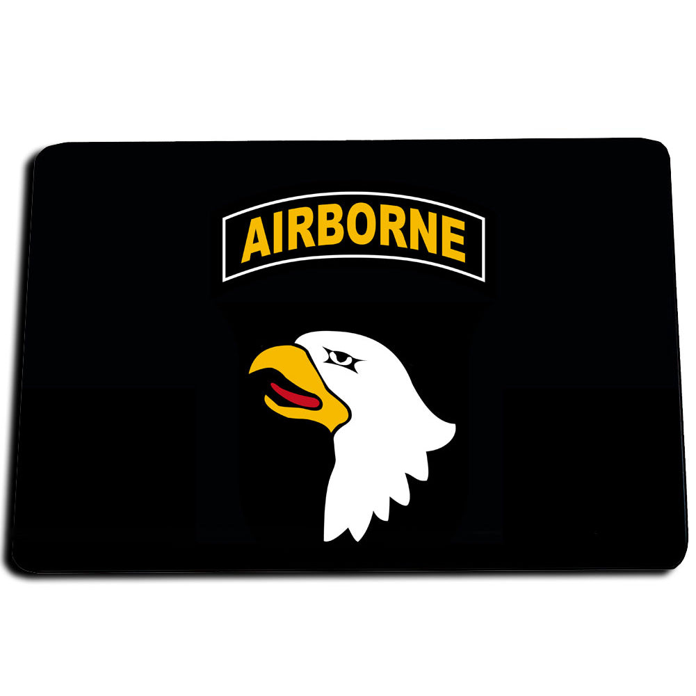 United States Army 101st  Airborne Rocker Tab Eagle Head Door Mat Rug
