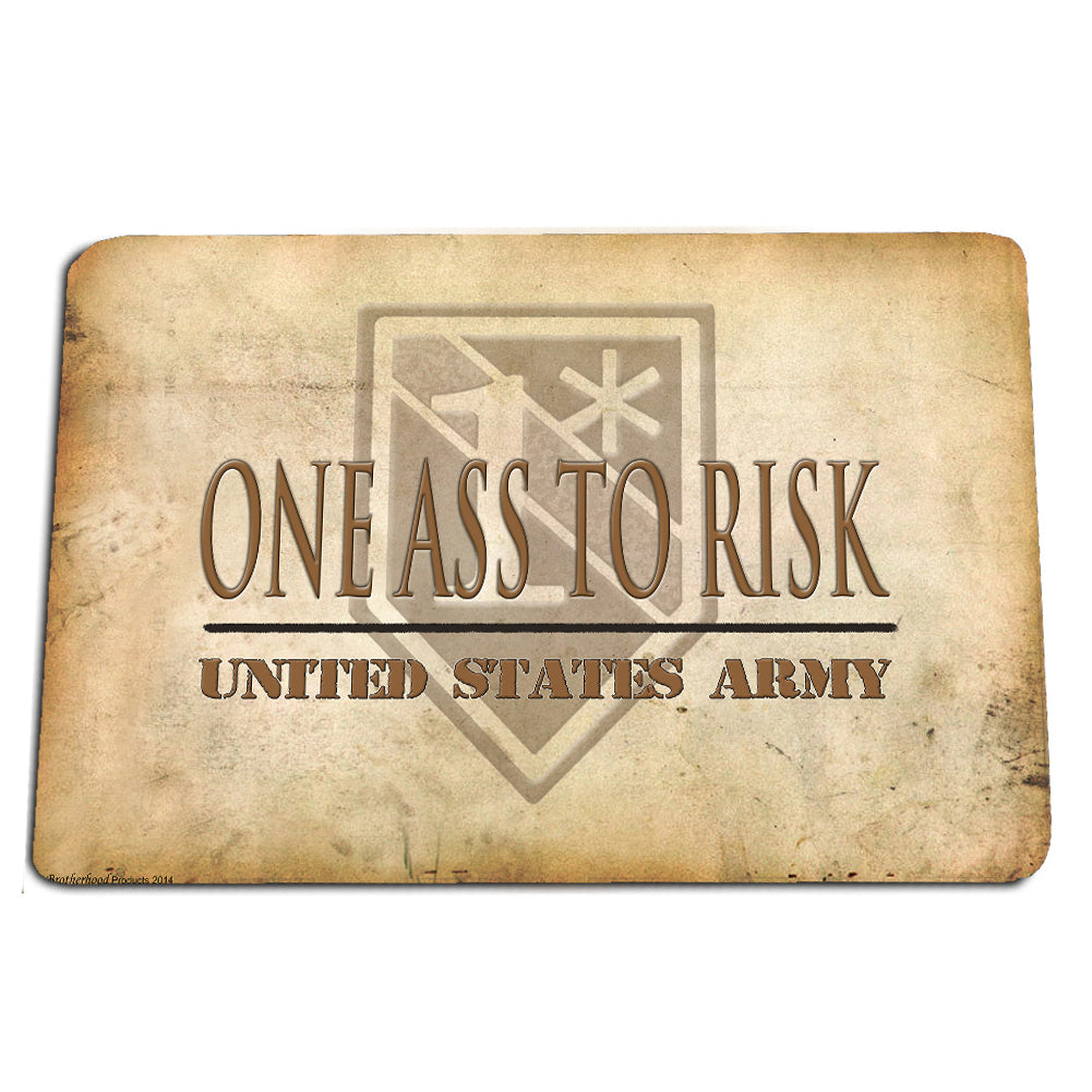 United States Army One Ass To Risk 1* Stone Design Door Mat Rug