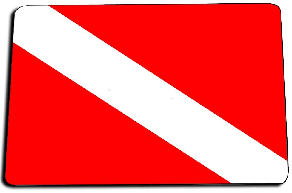 Diver Down Flag Door Mat Rug