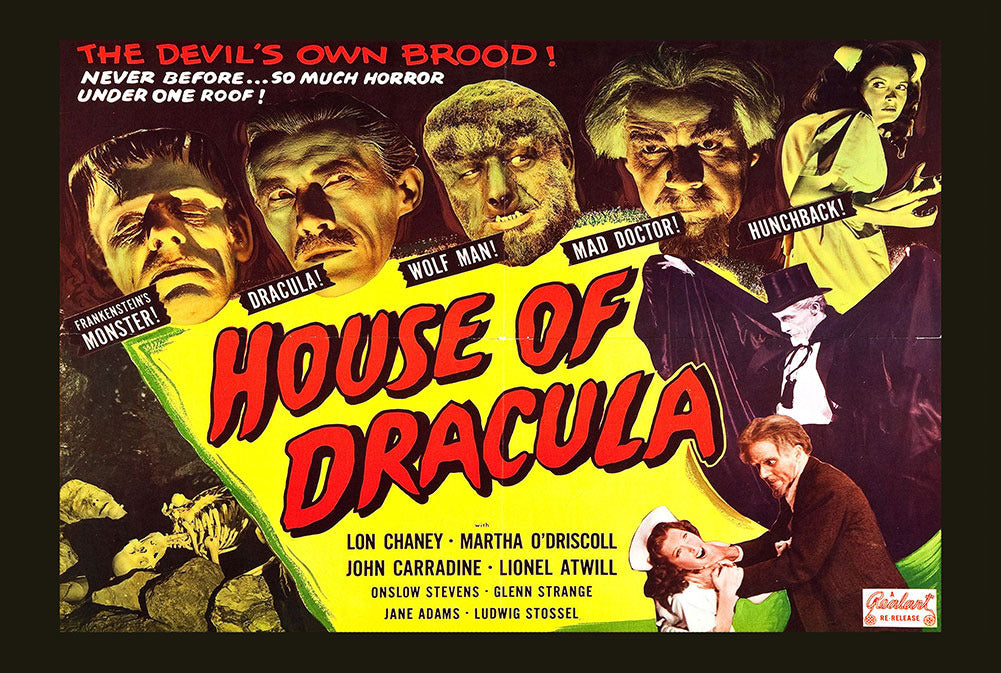 House of Dracula Movie 8x12 Metal Sign