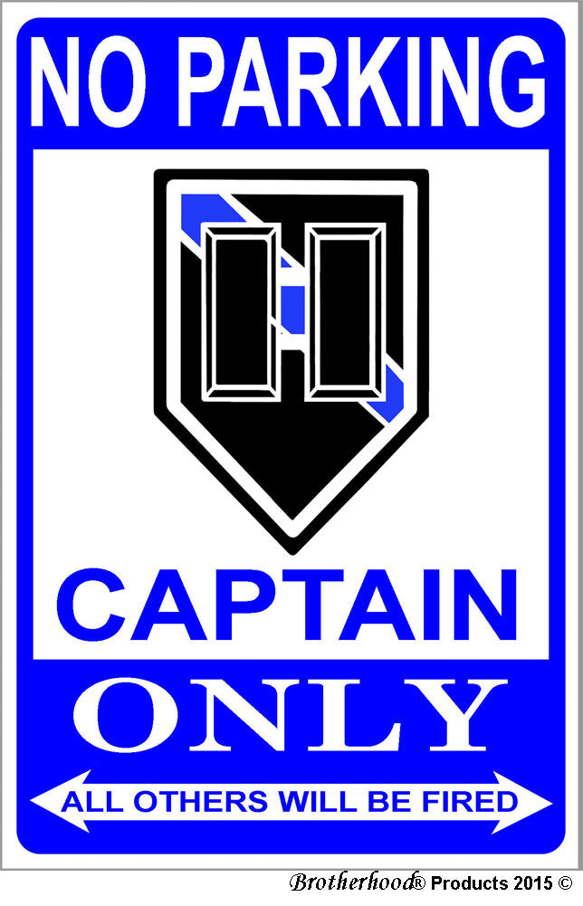 No Parking Captain Only 8x12 Metal Sign