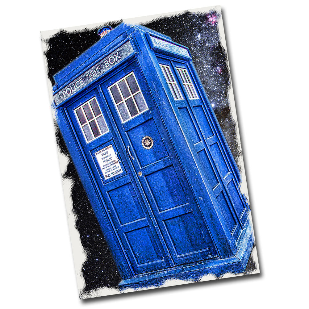 "Doctor Who Police Public Call Box 12"" x 8"" Sign"