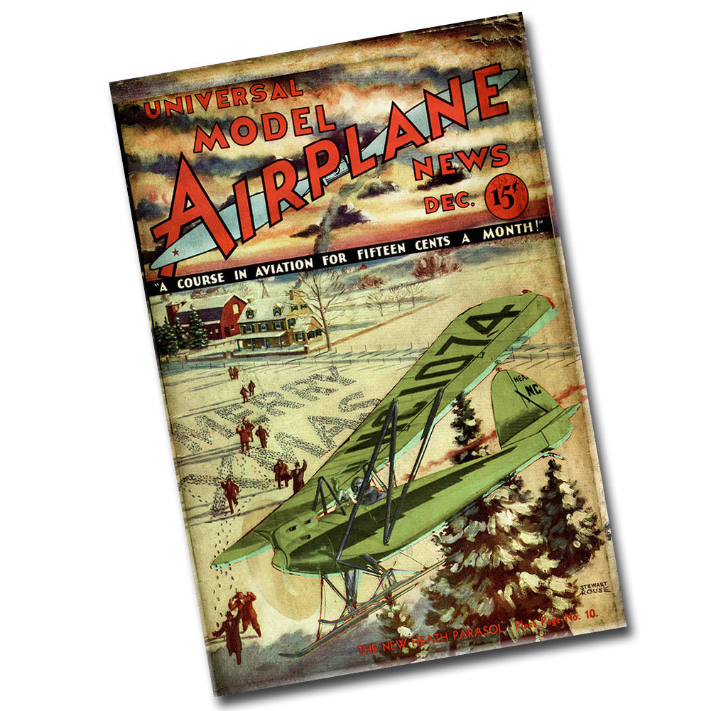 Vintage Universal Model Airplane Cover 8 x12 Metal Poster
