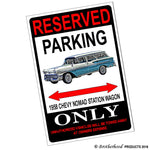 Reserved Parking 1958 Chevy Nomad Station Wagon Only 8x12 Metal Poster