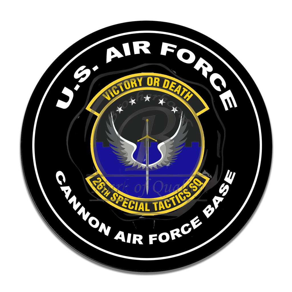 United States Air Force 26th Special Tactics Squad 11.75 Inch Circle Aluminum Sign