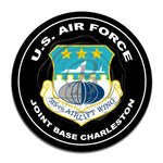 United States Air Force 315th Airlift Wing 11.75 Inch Circle Aluminum Sign