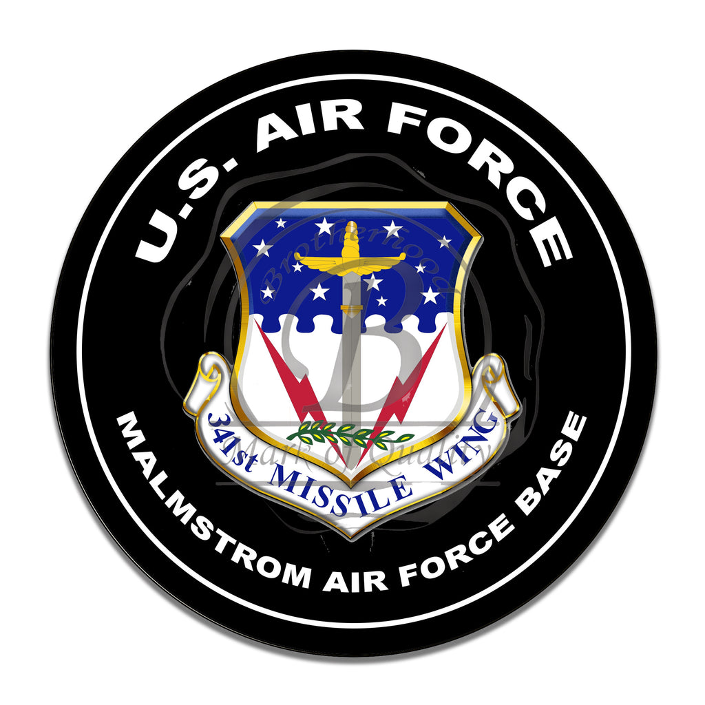 United States Air Force 341st Missile Wing 11.75 Inch Circle Aluminum Sign