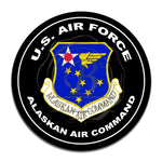 United States Air Force Alaskan Air Command 11.75 Inch Circle Aluminum Sign