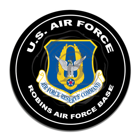 United States Air Force Reserve Command 11.75 Inch Circle Aluminum Sign