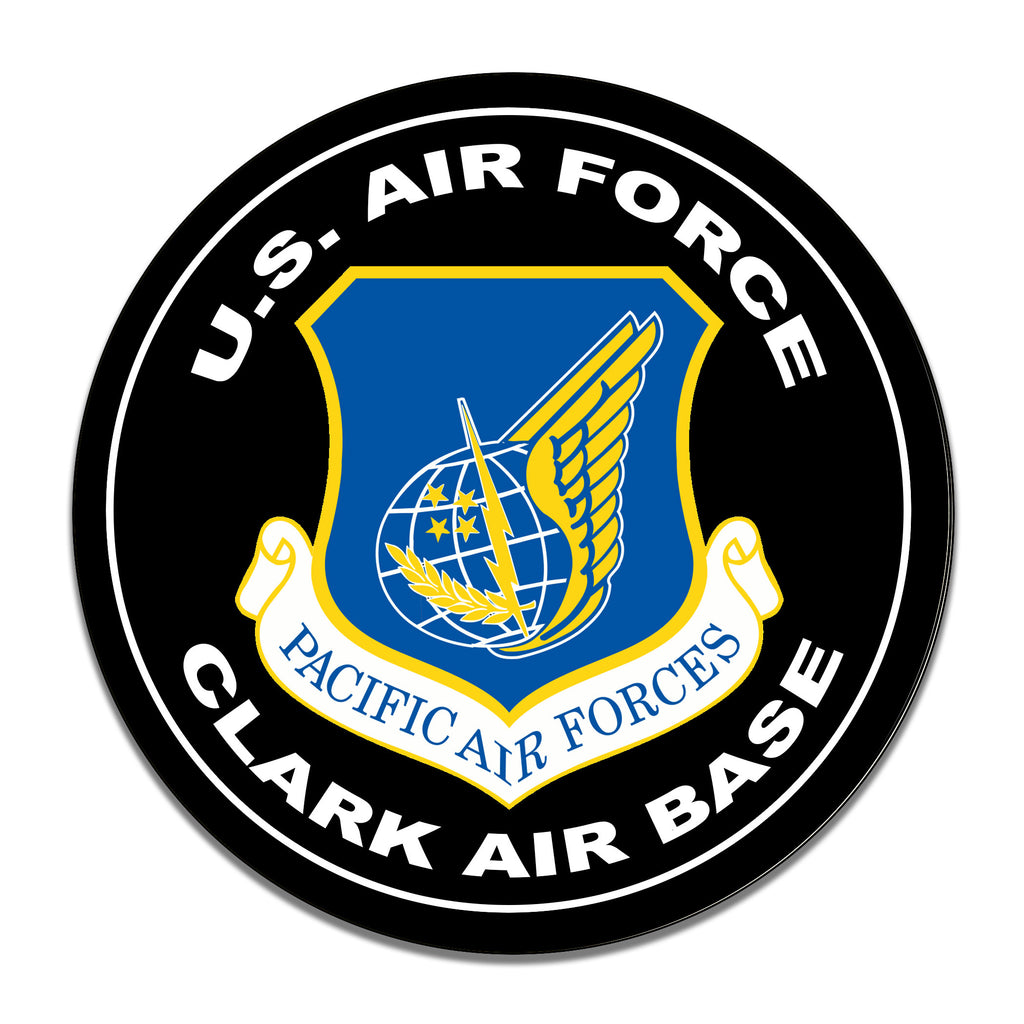 United States Air Force Clark Air Force Base 11.75 Inch Circle Aluminum Sign