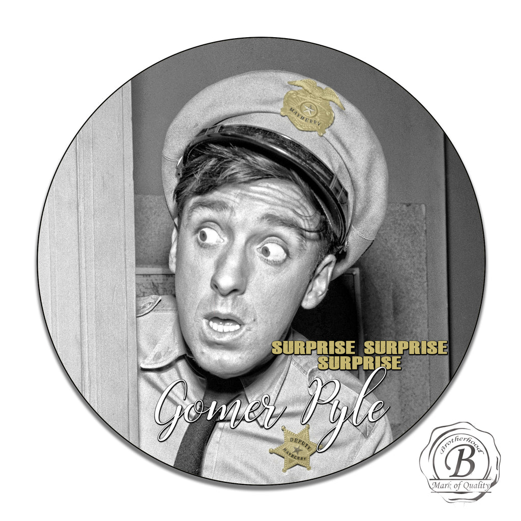 Mayberry's Gomer Pyle as Deputy Pyle Circle Aluminum Sign
