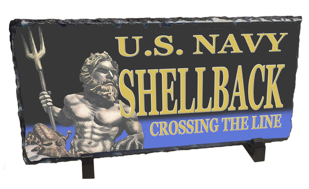 U.S. Navy Shellback Crossing The Line Slate Rock
