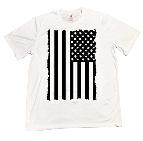 Subdued American Flag Rapid Dry T-Shirt
