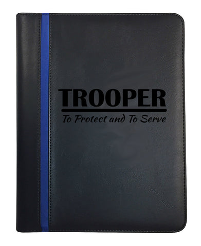 State Trooper Thin Blue Line Padfolio Bundle