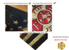 Maltese Cross American Flag Firefighter Garden Flag and Magnet