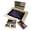 American Flag Thin Blue Line Magnet, Decals and Sergeant Police Officer Prayer print