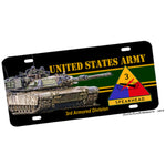 United States Army Spearhead 3rd Armored Division Novelty License Plate