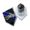 Thin Blue Line Motorcycle Bike Patrol Squad Motors Unit Lapel Pin