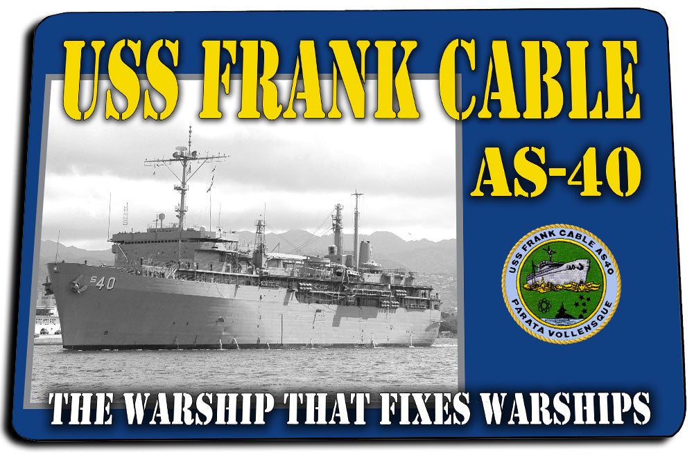 USS Frank Cable AS-40 Door Mat Rug