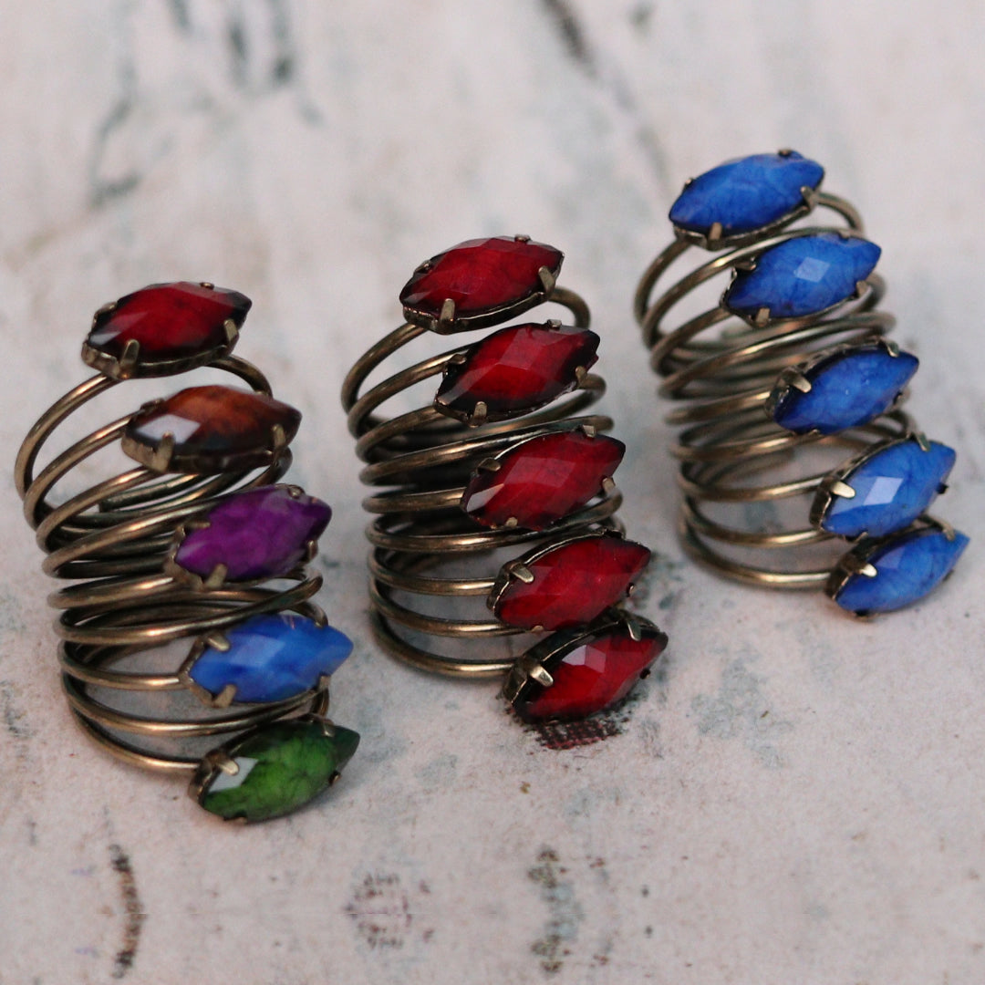 Colorful Statement Rings
