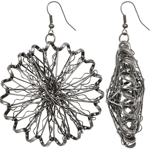Silver Mangled Earrings