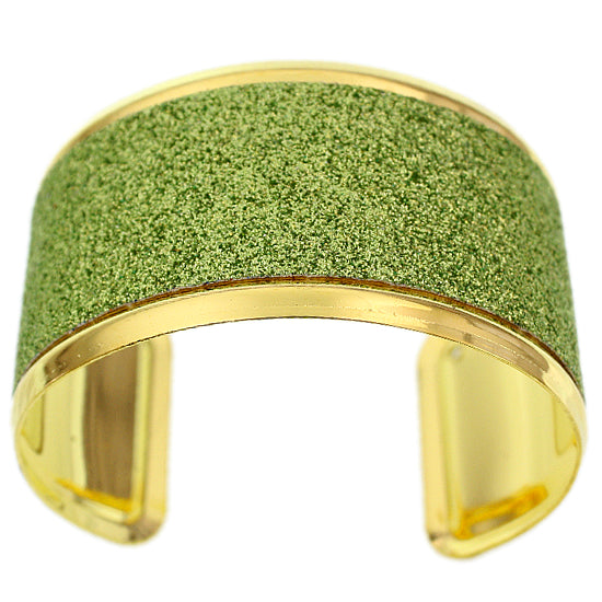 Apple Green Pave Glitter Cuff Bracelet
