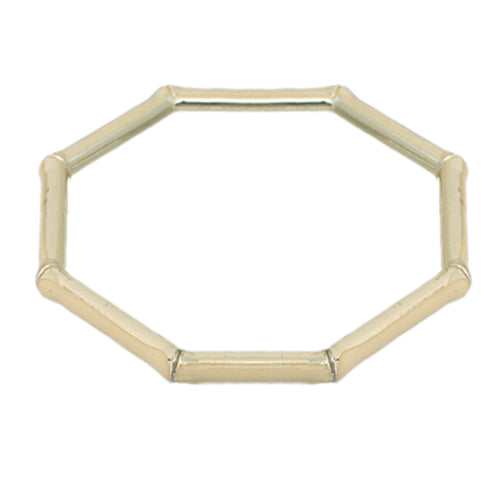 Beige Lightweight Hexagon Bamboo Bracelet