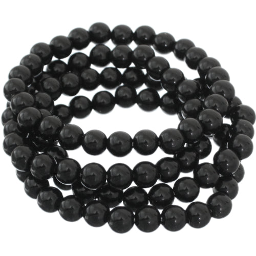 Black 4-Piece Beaded Stretch Bracelets