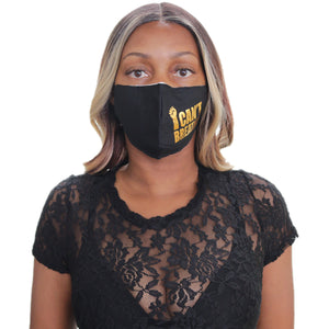Black Gold I Can't Breath Face Mask