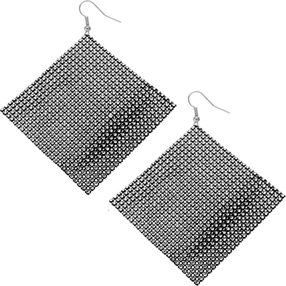 Black Big Mesh Earrings