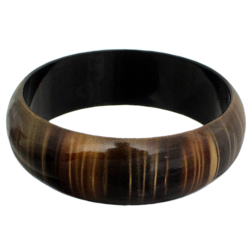 Black Multicolor Striped Bangle Bracelet