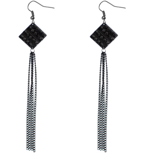 Black Long Chain Earrings