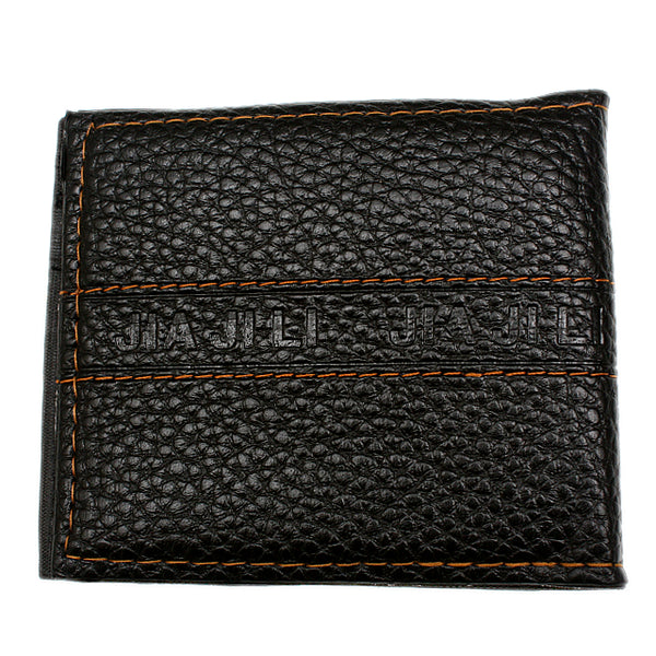 Black Faux Leather Credit Card Wallet