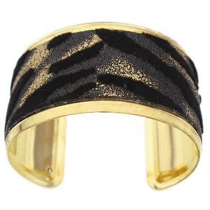 Black Gold Metal Cuff Bracelet