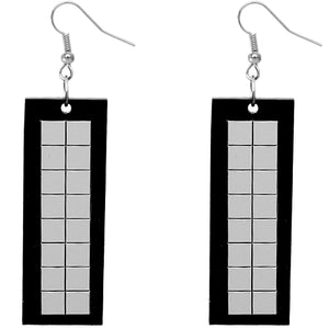 Black Reflect Earrings