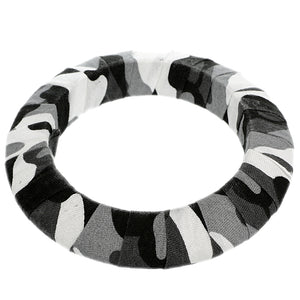 Black Army Camouflage Saucer Bangle Bracelet
