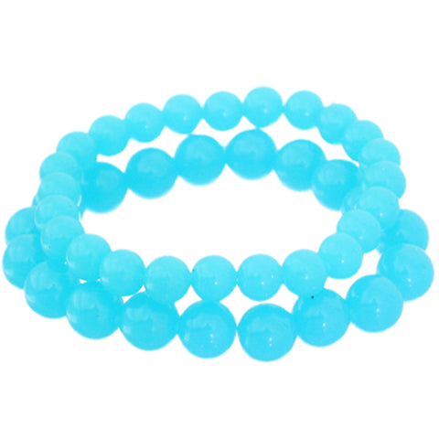 Blue 2-Piece Beaded Stretch Bracelets