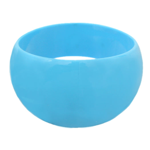 Blue Round Curvy Bangle Bracelet
