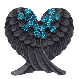 Blue Beaded Double Wing Adjustable Ring