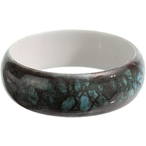Blue Grunge Textured Bangle Bracelet
