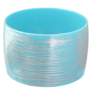 Blue Large Wide Bangle Bracelet