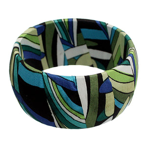 Green Multicolor Tropical Bangle Bracelet